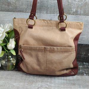 The SAK burnished leather tote bag
